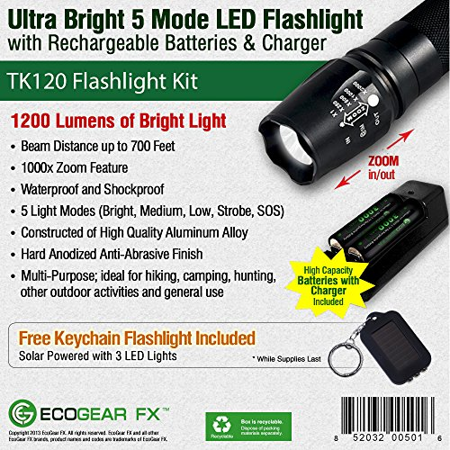 EcoGear FX Best Tactical Flashlight Reviews 2016 Buying guide