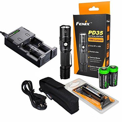 Fenix PD35 1000 Lumen Rechargeable Best Tactical Flashlight Reviews
