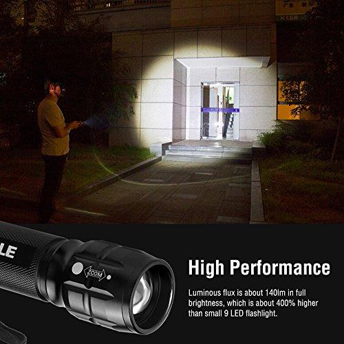 Le adjustable focus led cree flashlight