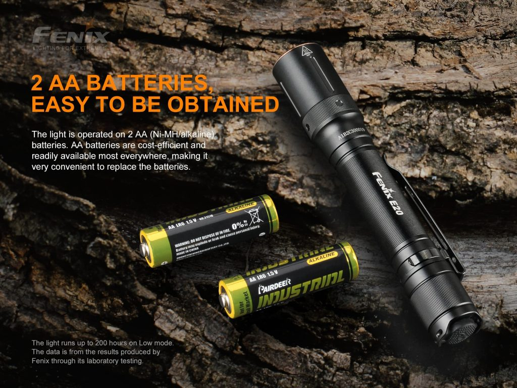 AA flashlight fenix e20