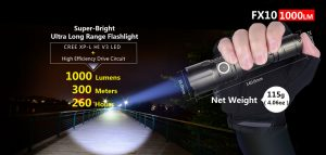 1000 Lumen Zoomable LED Flashlight Klarus FX10