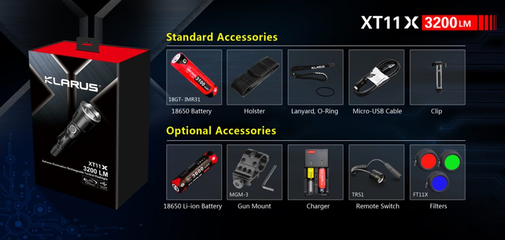 klarus xt11x best tactical flashlight
