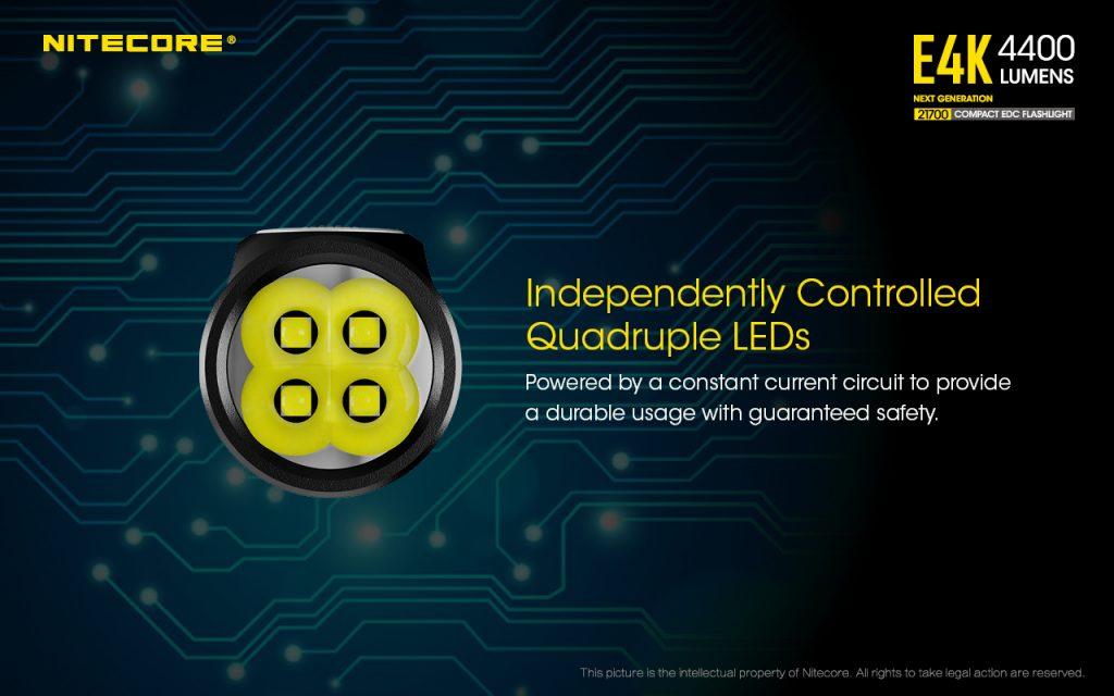 4400 lumen edc light nitecore e4k