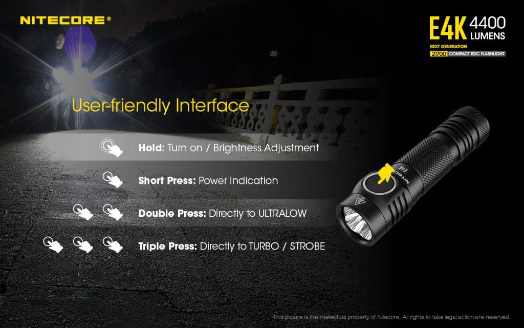 best everyday carry flashlight nitecore e4k