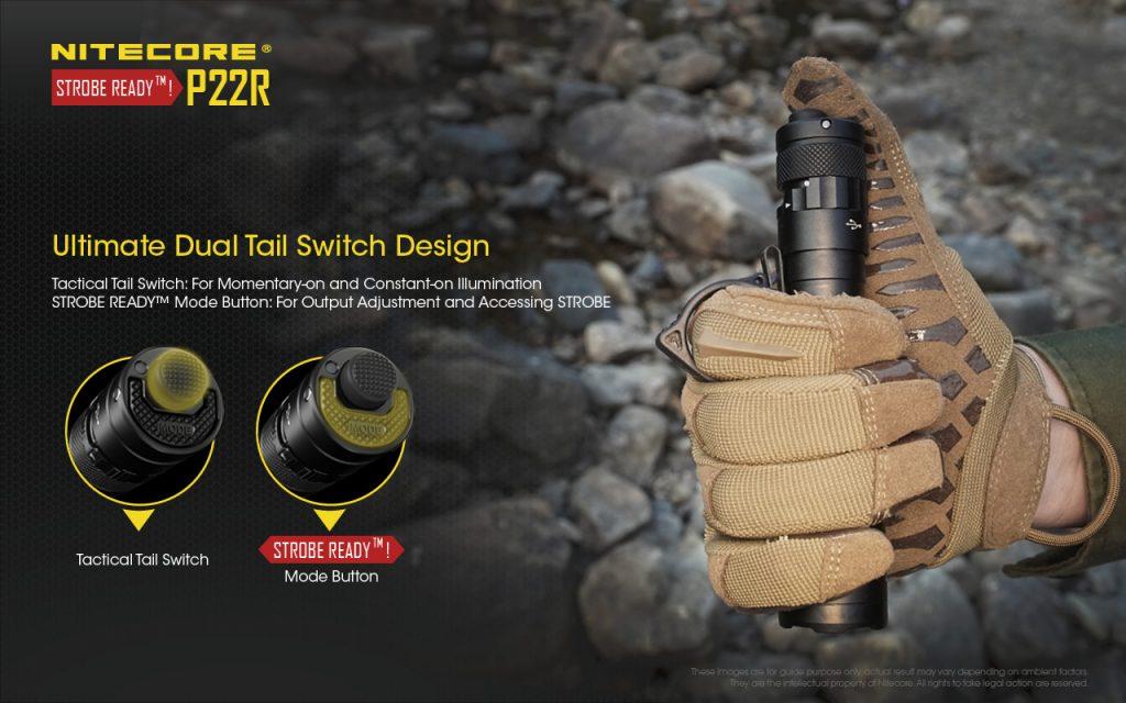 best tactical flashlight nitecore p22r