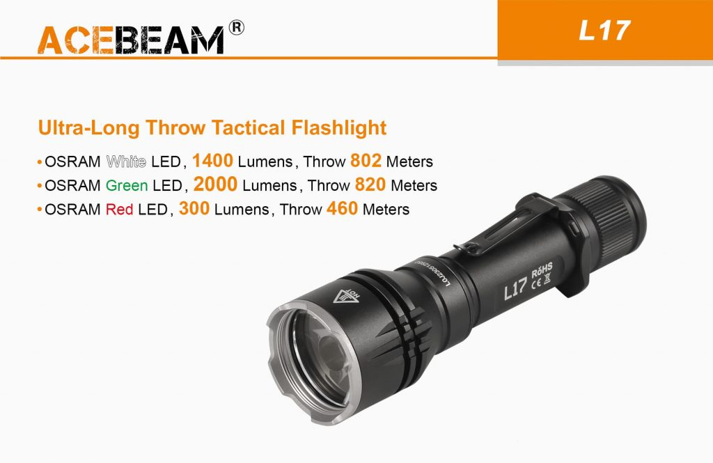 Acebeam L17 hunting flashlight