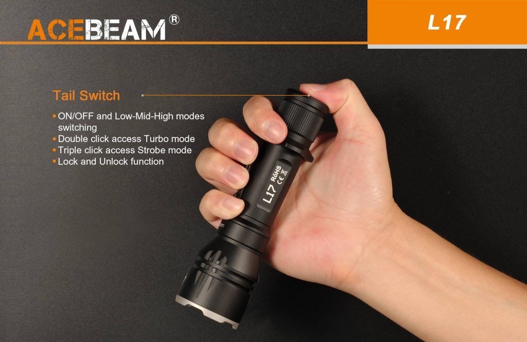 best tactical flashlight acebeam l17