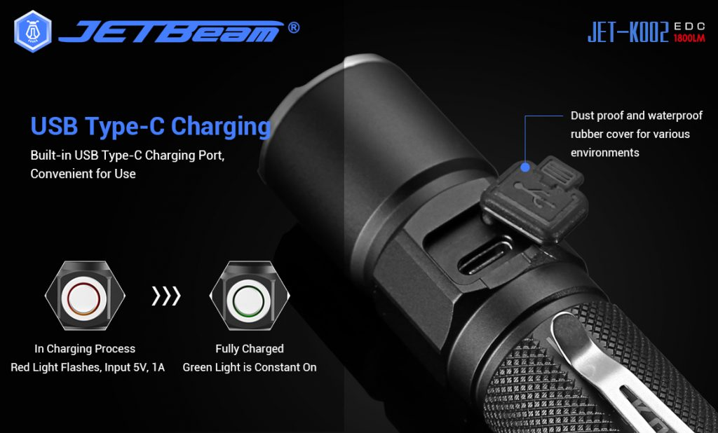 rechargeable tactical flashlight jetbeam ko02