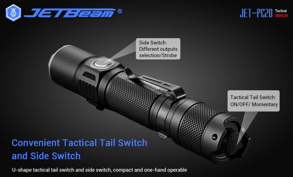 jetbeam tactical flashlight