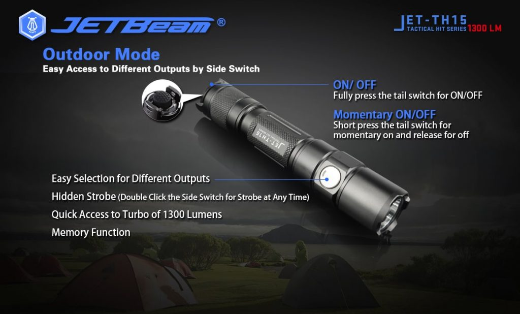 handheld led flashlight jetbeam th15