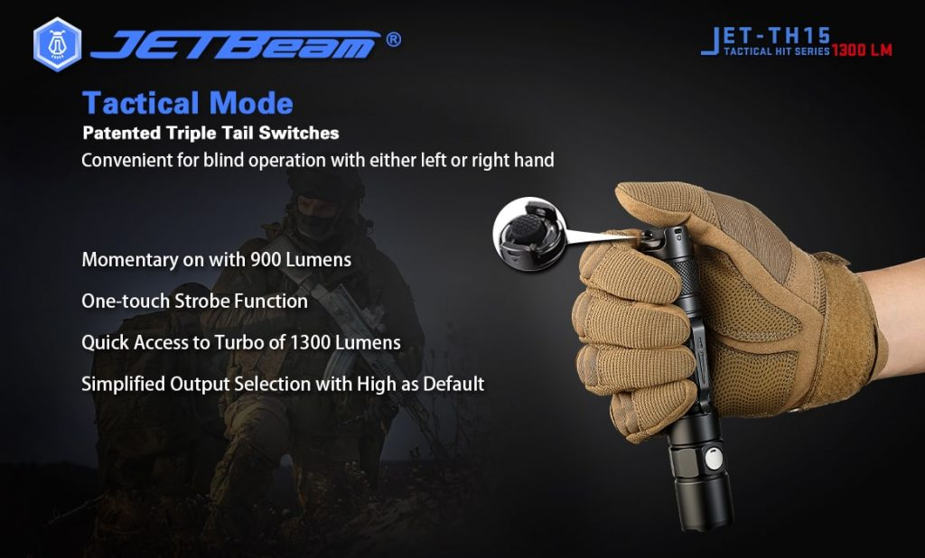 tactical flashlight jetbeam th15