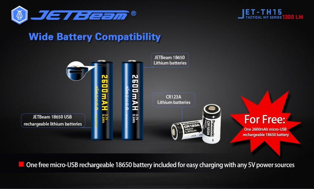18650 usb rechargeable battery jetbeam