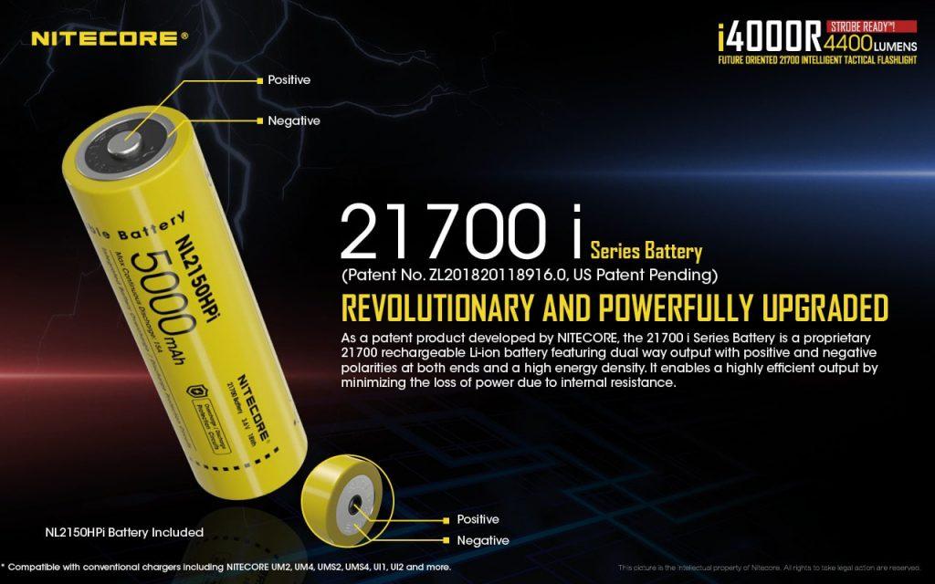 21700 flashlight nitecore i4000r