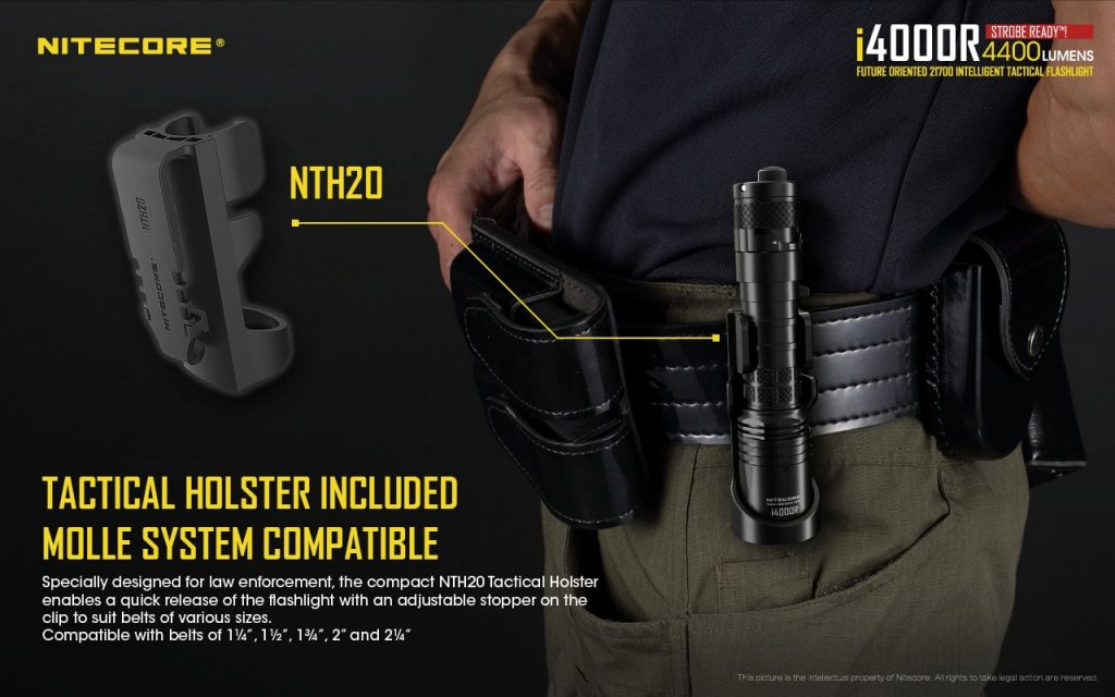 tactical flashlight with holster nitecore i4000r