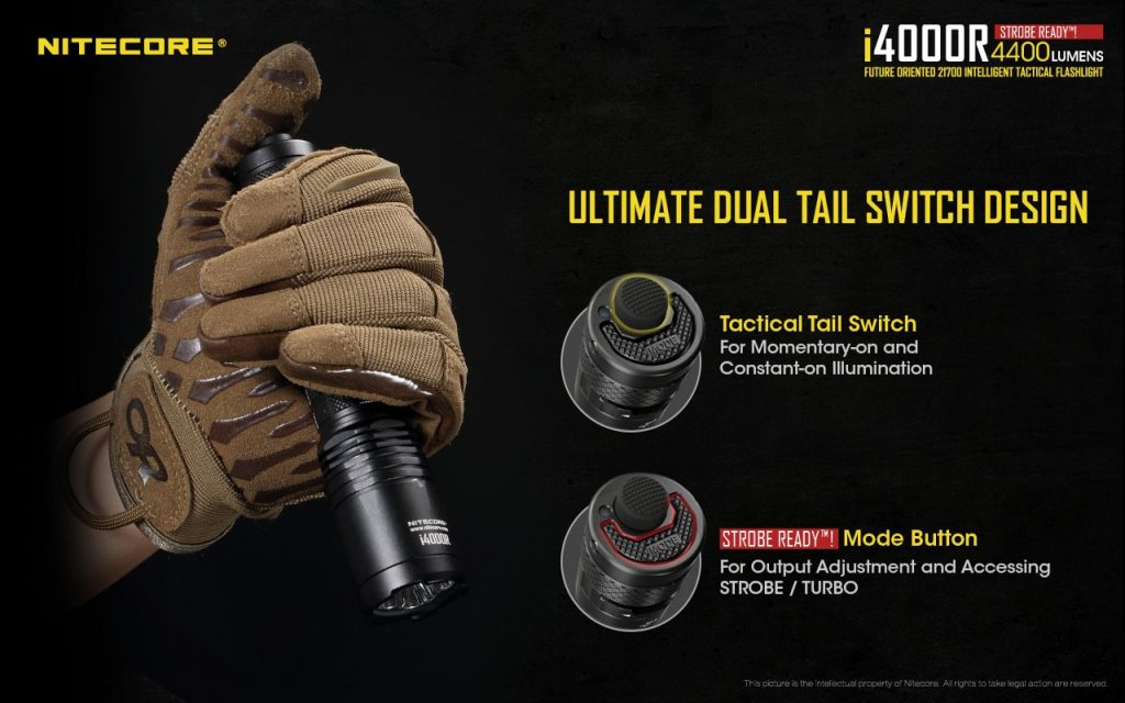 nitecore tactical flashlight i4000r