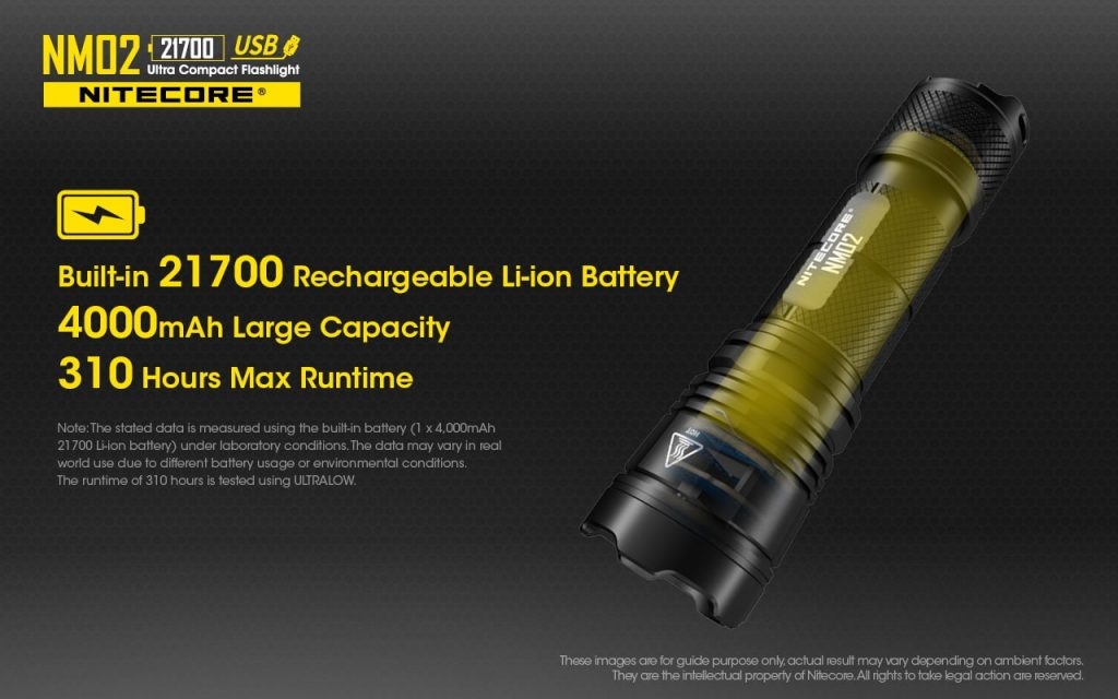 21700 flashlight nitecore nm02