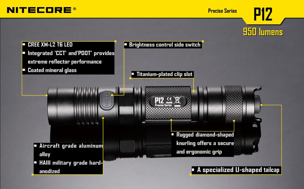 Nitecore P12 Specs