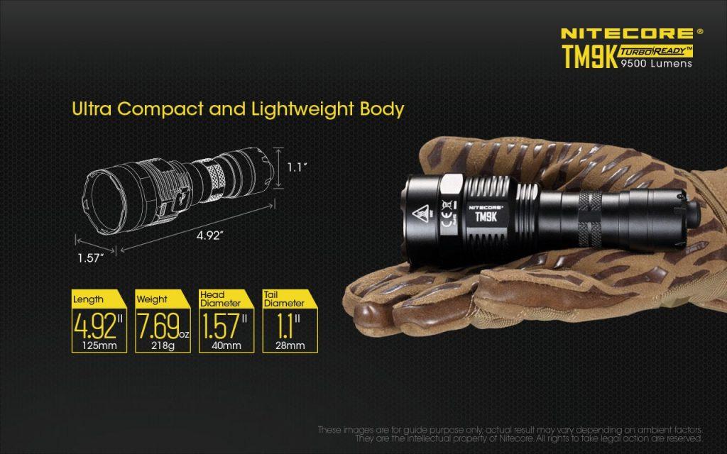 everyday carry flashlight nitecore tm9k