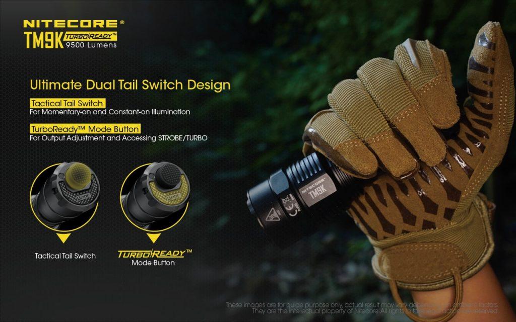 nitecore tm9k led flashlight
