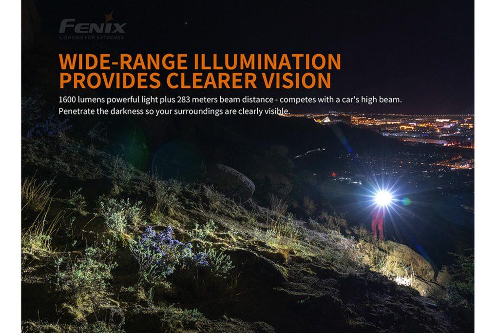Fenix PD36R 1600 Lumen Rechargeable Flashlight
