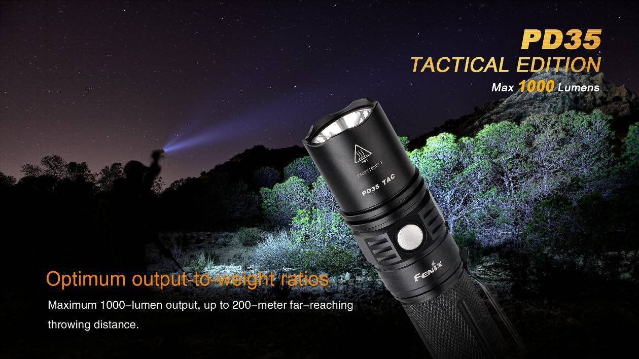 High quality Fenix PD35 tactical Flashlight