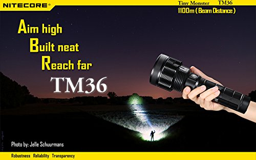 NiteCore TM36 SBT-70 LED Best Rechargeable Flashlight top 10 review buyer guide