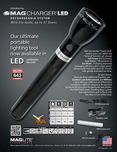 MAGLITE RX1019 Heavy-Duty Best Rechargeable Flashlight top 10 review buyer guide