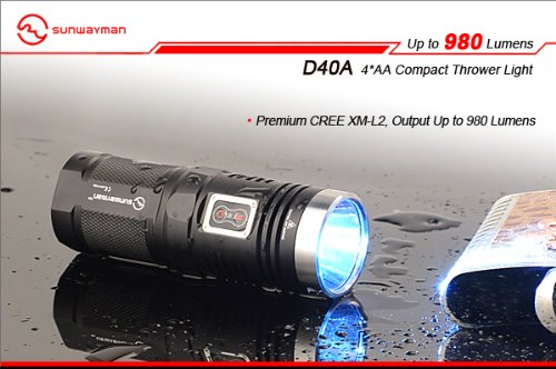 Sunwayman D40A Cree XM-L2 Best AA Flashlight led tactical torch buying guide