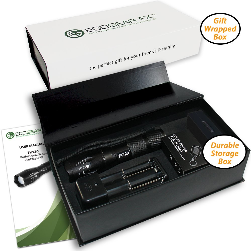 Bright LED Flashlight,Rechargeable Best flashlights,Water Resistant flashlight