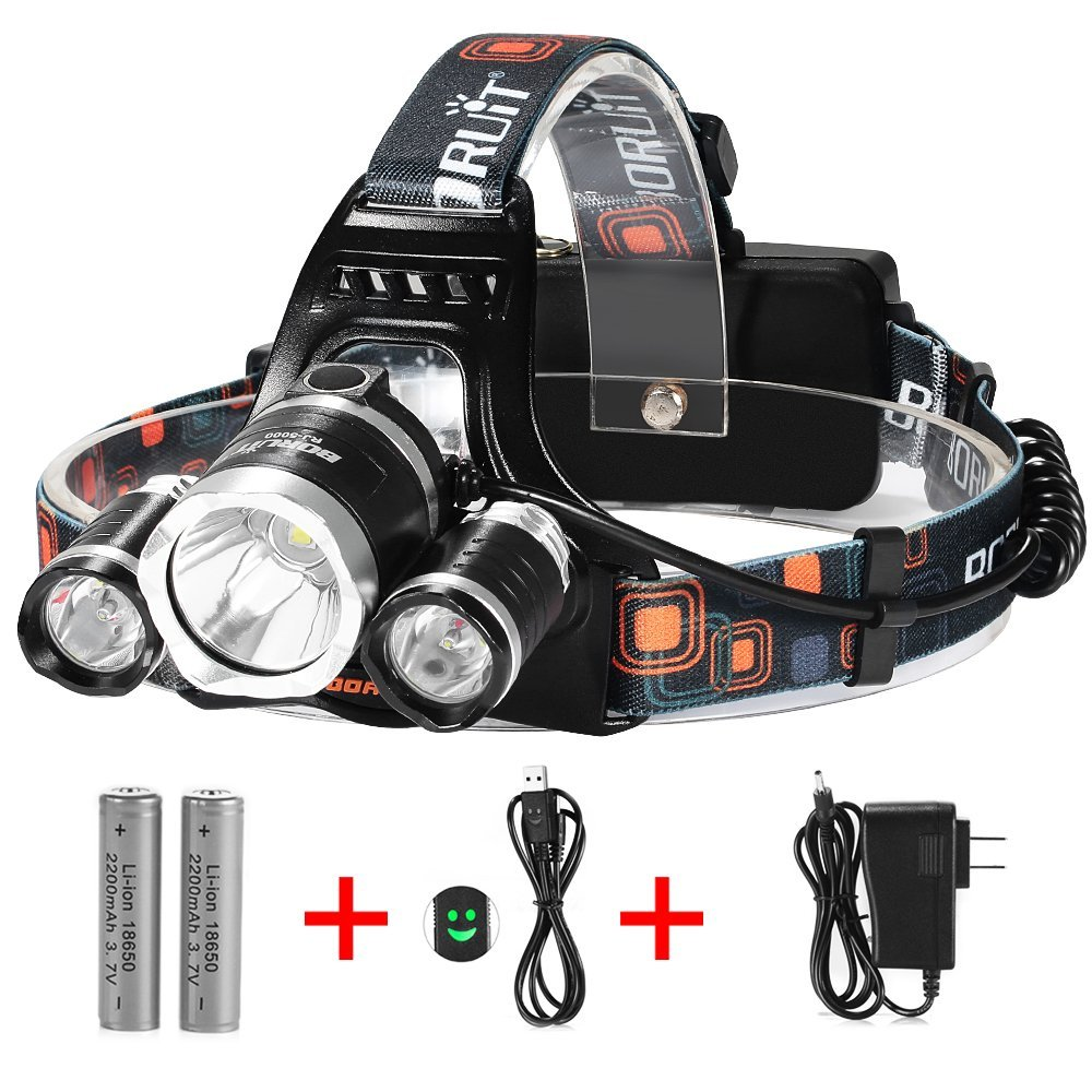 Waterproof LED Headlamp Best Hunting Flashlight long range light Reviews 2016