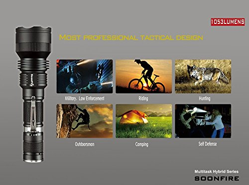 Waterproof tactical flashlight Soonfire V06 best underwater flashlight