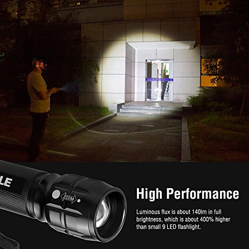 Le adjustable focus led cree flashlight