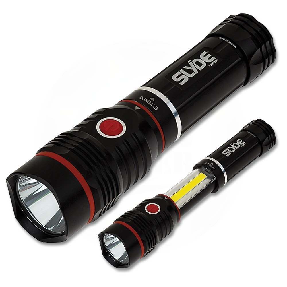Cheap bright flashlight Soft Touch Technology BATTERIES Nebo Slyde flashlight review
