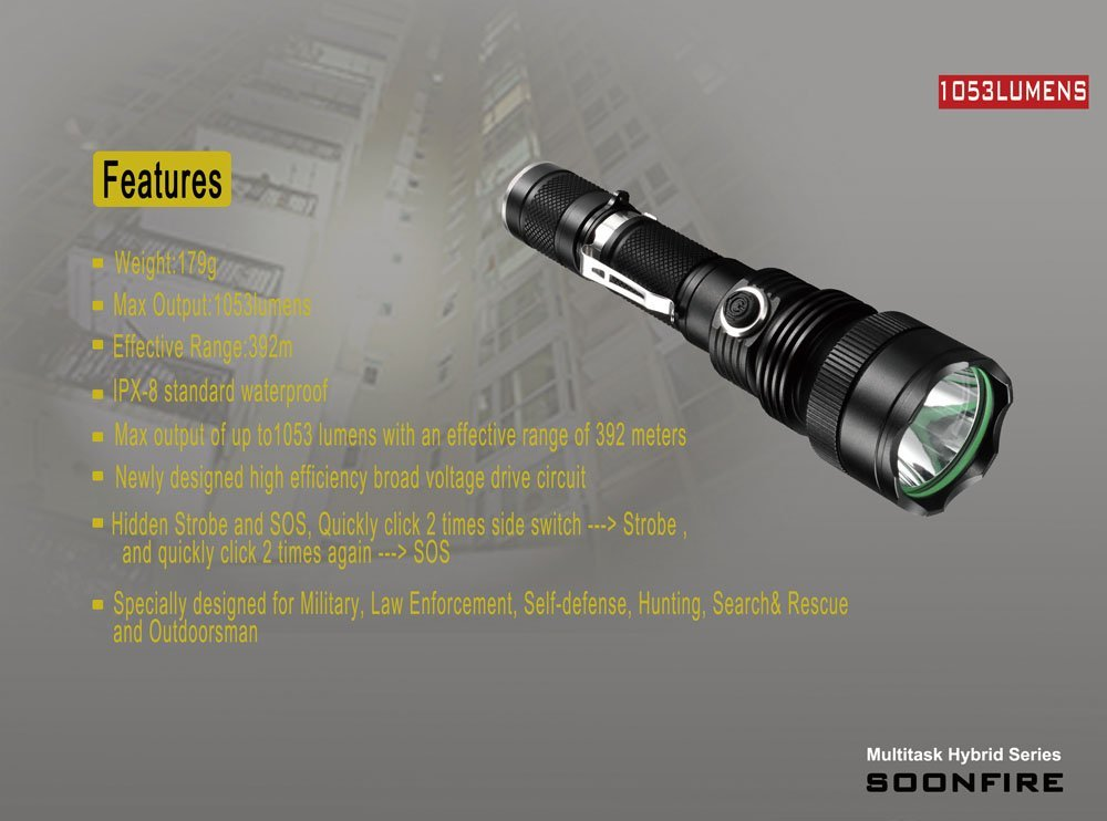 best underwater flashlight Ultra Bright Tactical Flashlight Waterproof tactical flashlight
