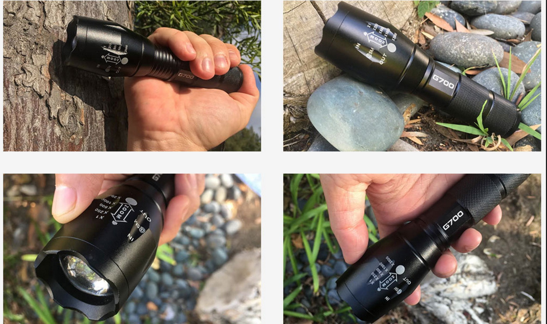 Tactical G700 Flashlight Reviews LED flashlight Best Military flashlight
