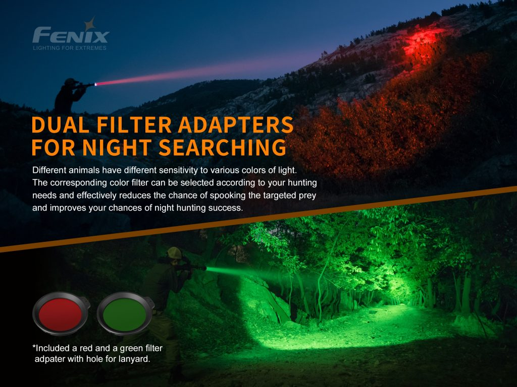 hunting flashlight fenix ht18