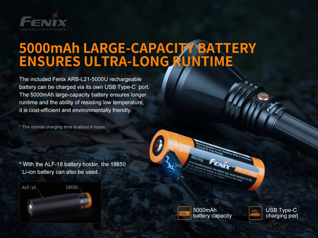 21700 tactical flashlight