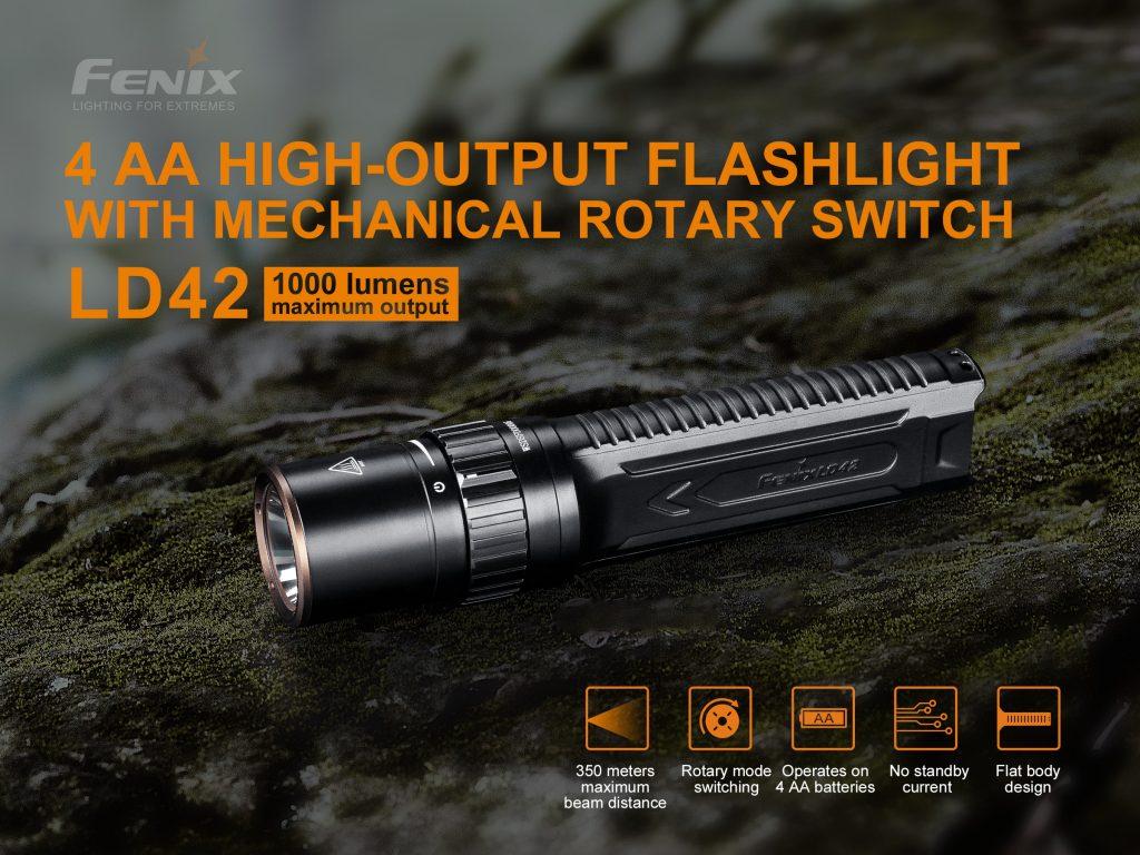 fenix aa flashlight ld42