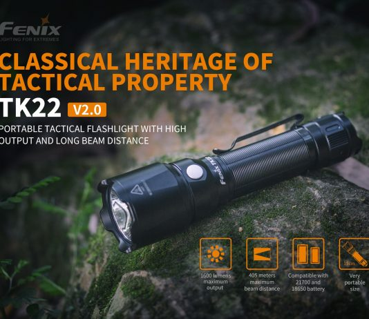 fenix tactical flashlight tk22 v2