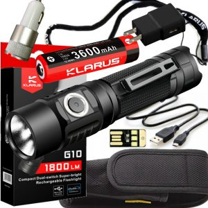 1800 Lumen Everyday Carry Flashlight Klarus G10