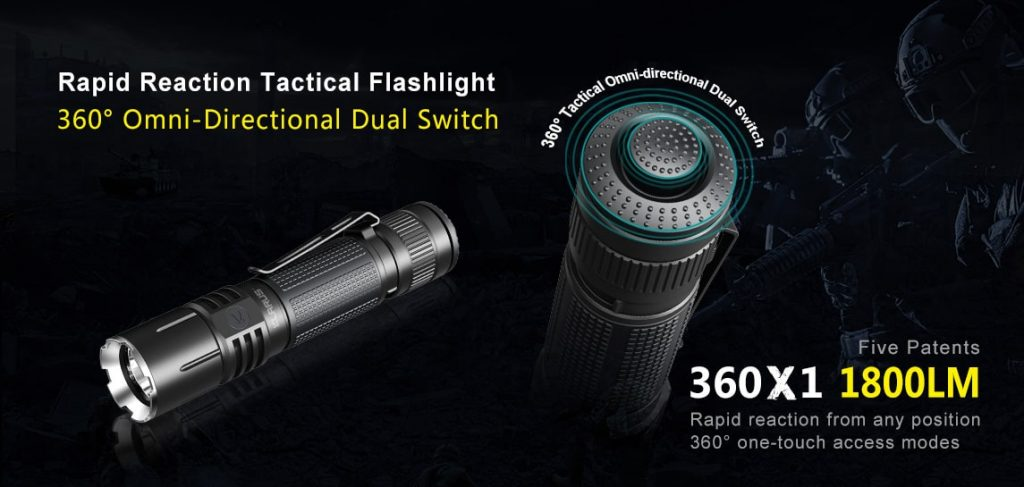 tactical flashlight 1800 lumens