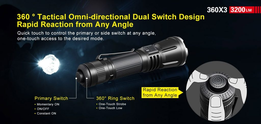 3200 lumen tactical flashlight