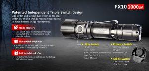 Klarus FX10 1000 Lumen Tactical Flashlight