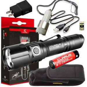 Klarus FX10 1000 Lumen Tactical Flashlight