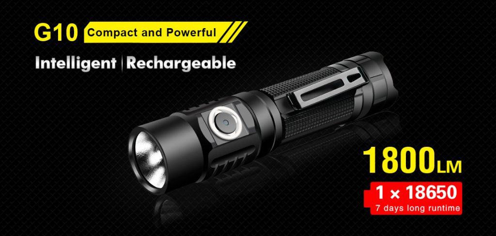 Everyday Carry Flashlight 1800 Lumens
