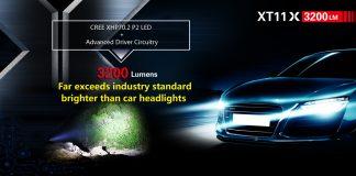 Klarus XT11X 3200 Lumen Tactical Flashlight