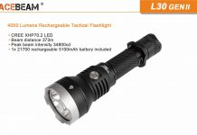 acebeam l30 gen ii led flashlight
