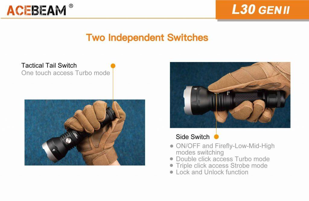 best led flashlight acebeam l30 gen ii