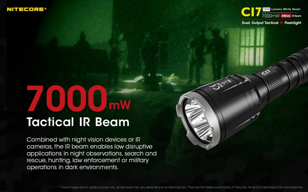 ir beam tactical flashlight