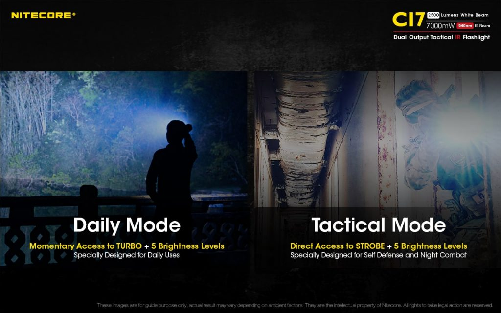 multiple modes on best tactical flashlight